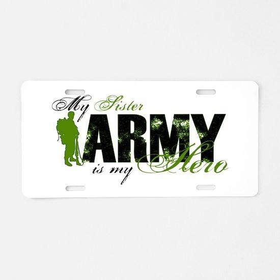 Sister Hero3 - ARMY Aluminum License Plate