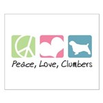 Peace, Love, Clumbers Small Poster