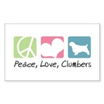 Peace, Love, Clumbers Sticker (Rectangle 50 pk)