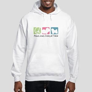 Peace, Love, Coton de Tulear Hooded Sweatshirt