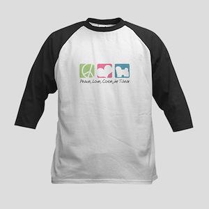 Peace, Love, Coton de Tulear Kids Baseball Jersey