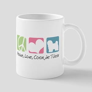 Peace, Love, Coton de Tulear Mug