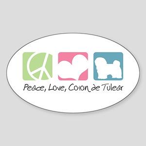Peace, Love, Coton de Tulear Sticker (Oval)