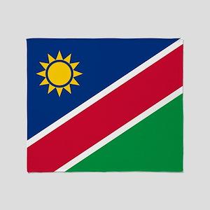 Flag of Namibia Throw Blanket