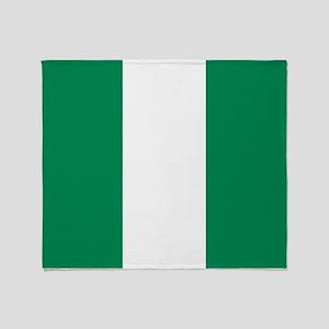 Flag of Nigeria Throw Blanket