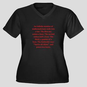 funny math joke Women's Plus Size V-Neck Dark T-Sh