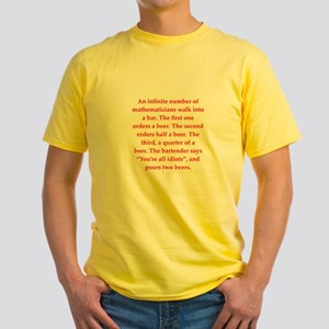 funny math joke Yellow T-Shirt