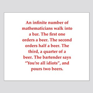 funny math joke Small Poster