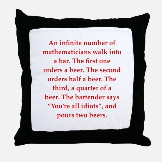 funny math joke Throw Pillow