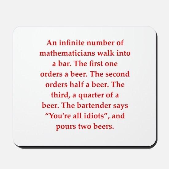 funny math joke Mousepad