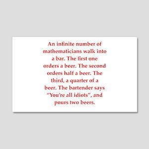 funny math joke 22x14 Wall Peel