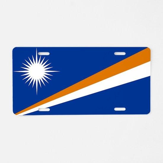 Marshall Islands Flag Aluminum License Plate