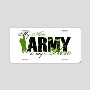 Niece Hero3 - ARMY Aluminum License Plate
