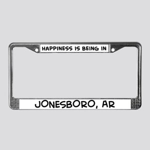Happiness is Jonesboro License Plate Frame