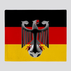German Soccer Flag Throw Blanket