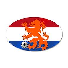 Orange Football Lion Wall Decal