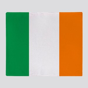 Irish flag of Ireland Throw Blanket
