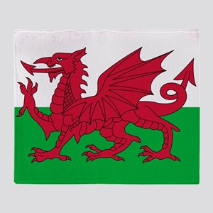 Welsh flag of Wales Throw Blanket