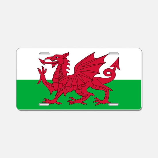 Welsh flag of Wales Aluminum License Plate
