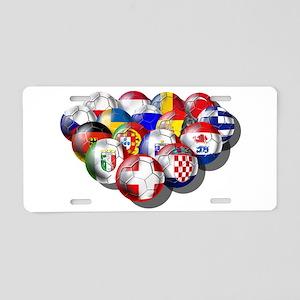 European Soccer Football Aluminum License Plate