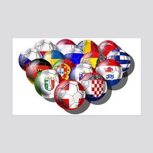European Soccer Football 38.5 x 24.5 Wall Peel
