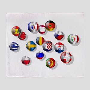 European Football Throw Blanket