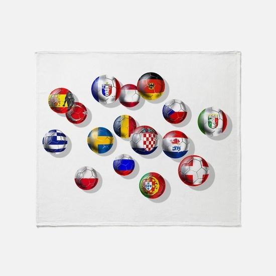 European Football Throw Blanket