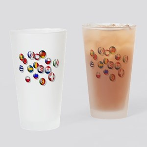 European Football Drinking Glass