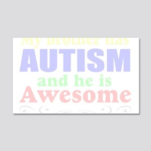Awesom autism brother 22x14 Wall Peel