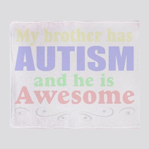 Awesom autism brother Throw Blanket