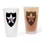 2nd Infantry Drinking Glass