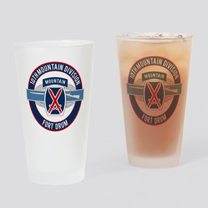 10th Mountain with CIB Drinking Glass