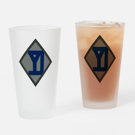 26th Infantry Yankee Div Drinking Glass