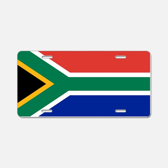 Flag South Africa Aluminum License Plate