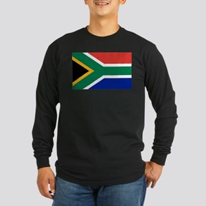 Flag South Africa Long Sleeve Dark T-Shirt