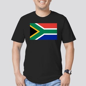 Flag South Africa Men's Fitted T-Shirt (dark)