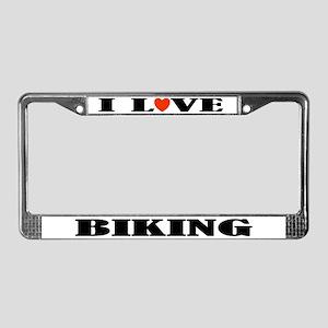 Biking License Plate Frame (I Heart)