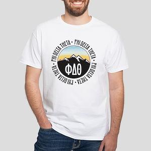 Phi Delta Theta Mountain Sunset White T-Shirt