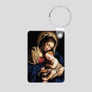 Madonna and child Aluminum Photo Keychain