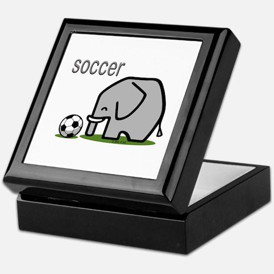Soccer Elephant (2) Keepsake Box