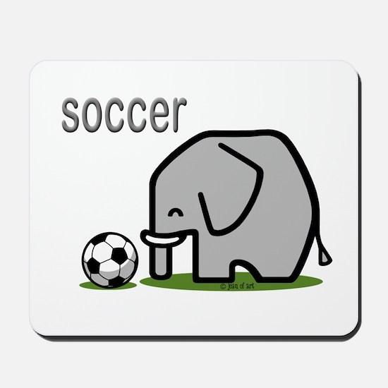 Soccer Elephant (2) Mousepad