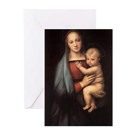 Madonna and child Greeting Cards (Pk of 10)