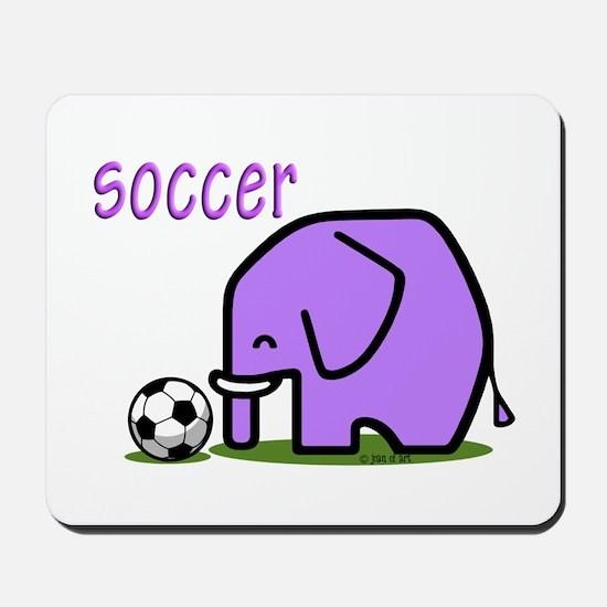 Soccer Elephant (3) Mousepad