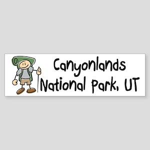 Hike Canyonlands (Boy) Sticker (Bumper)