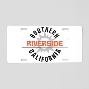 Riverside California Aluminum License Plate
