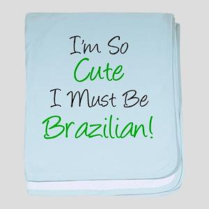 I'm So Cute Brazilian baby blanket