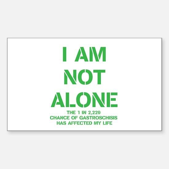 I am not alone! Sticker (Rectangle)