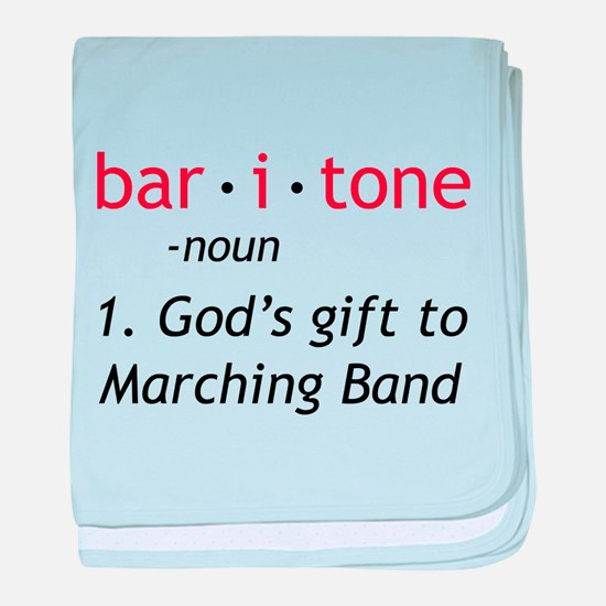 Definition of a Baritone baby blanket