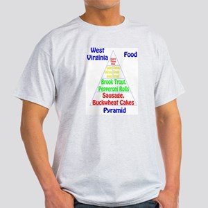 West Virginia Food Pyramid Light T-Shirt
