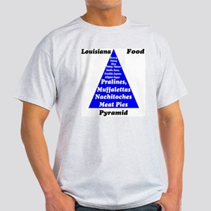 Louisiana Food Pyramid Light T-Shirt